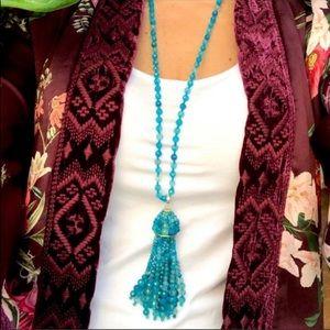 Kendra Scott blue needs tassel necklace new